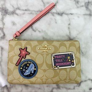 Coach X Disney Patches Corner Zip Wristlet Wallet